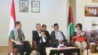 Duta Besar Palestina untuk Indonesia Zubair Alshun dalam konferensi pers pada Rabu, 26 Juni 2019 (Liputan6.com/Siti Khotimah)