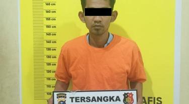 Tersangka penipuan cek kosong setelah membeli mobil milik polisi di Pekanbaru.