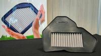 Saringan udara Ferrox untuk Suzuki Satria F150 injeksi. (Septian/Liputan6.com)