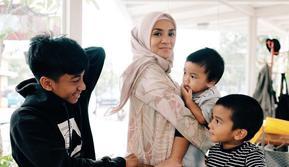 Enno Lerian bersama anak-anaknya (Instagram/ennolerian_)