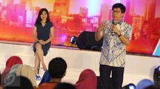 Wakil Direktur Utama Emtek, Sutanto Hartono,saat menjadi pembicara dalam acara Emtek Goes to Campus (EGTC) 2017 di Malang, Jawa Timur, Rabu (3/5). (Liputan6.com/Helmi Afandi)