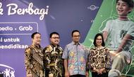 Gubernur DKI Jakarta Anies Baswedan menghadiri acara penutupan Festival Patungan untuk Berbagi di Gelora Bung Karno, Senayan, Jakarta. (Ratu Annisaa Suryasumirat/Liputan6.com)