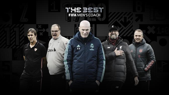 Nominasi pemenang pelatih terbaik tim putra FIFA The Best Award 2020. (Dok FIFA)
