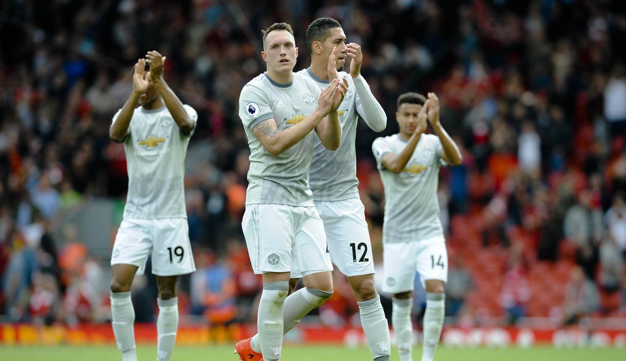 FOTO Manchester United Tahan Liverpool Di Anfield Inggris