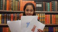 Ribie Siti Fadryan, gadis cilik berasal dari Bandung berusia 10 tahun yang jago mendesain baju fesyen anak.