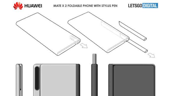Paten smartphone Huawei Mate X 2 muncul di internet. (Doc: LetsGoDigital)