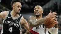 Pertandingan NBA, Portland Trail Blazers melawan tuan rumah San Antonio Spurs, Spurs menang 131-118 atas Blazers (Foto: AP Photo/Darren Abate)