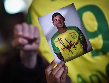 Emiliano Sala Meninggal Dunia, Pendukung FC Nantes Larut Dalam Rasa Duka