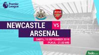 Premier League 2018-2019 Newcastle United Vs Arsenal (Bola.com/Adreanus Titus)