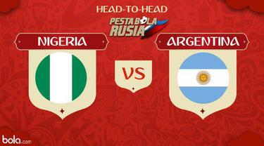 Berikut peta kekuatan pertandingan Piala Dunia 2018 antara Nigeria vs Argentina.