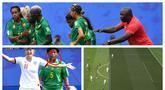Penerapan VAR (Video Assistant Referee) , mogok main dan insiden meludah mewarnai laga Inggris vs Kamerun pada babak 16 besar Piala Dunia Wanita 2019. Berikut galeri foto mengenai 3 hal yang membuat laga Inggris vs Kamerun jadi perbincangan media internasional.