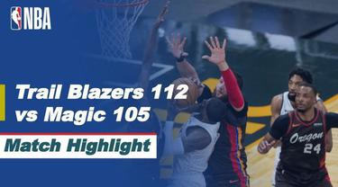 Berita Video Highlights NBA, Portland Trail Blazers Raih Kemenangan di Kandang Orlando Magic (27/3/2021)
