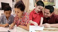 Momen 6 Artis Ajari Anak Belajar (sumber: instagram/sarwendah29/dude2harlino)