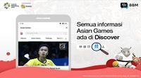 Konten Asian Games 2018 kini hadir di aplikasi BBM. (Foto: BBM)