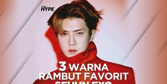 3 Warna Rambut Favorit Sehun EXO