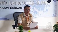 Juru Bicara Gugus Tugas Penanganan Covid-19 Sulawesi Barat Safaruddin Sanusi saat merilis tambahan 25 kasus positif Corona Covid-19 di Sulbar (Abdul Rajab Umar/Liputan6.com)
