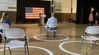 Kampanye Capres Joe Biden sepi akibat social distancing. Dok: Twitter @realdonaldtrump