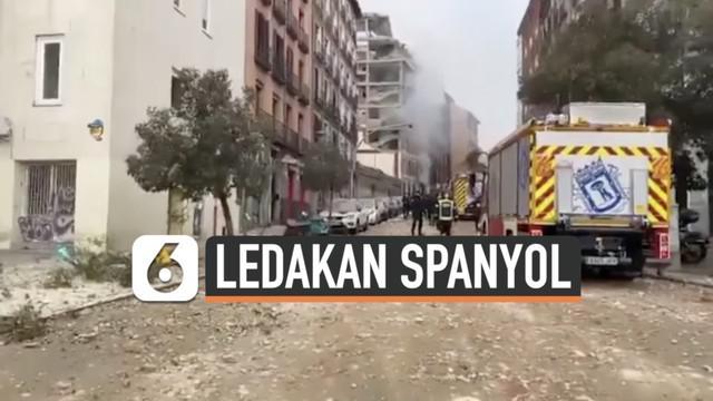 Ledakan besar terjadi di pusat kota Madrid, Spanyol. Bunyi ledakan terdengar sangat keras, dan membuat munculnya asap dari dalam gedung.