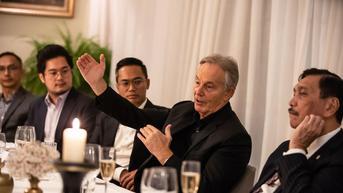 Di Inggris, Menko Luhut dan Tony Blair Diskusi soal Isu Perubahan Iklim