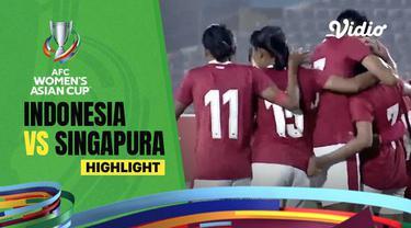 Berita video highlights kemenangan Timnas Putri Indonesia atas Singapura yang kedua kalinya di Kualifikasi Piala Asia 2022, Senin (27/9/2021) malam hari WIB.