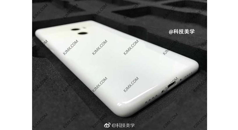 Bodi belakang smartphone diduga Mi MIX 2 (Sumber: Gizmochina)