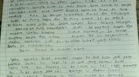 Testimoni remaja sebelum akhiri hidupnya dengan bunuh diri (istimewa)