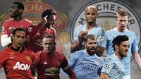 Manchester United vs Manchester City. (Bola.com/Dody Iryawan)