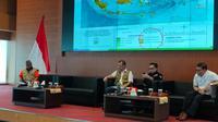 Kepala Badan Nasional Penanggulangan Bencana (BNPB) Doni Monardo dalam jumpa pers yang digelar Graha BNPB Jakarta, Sabtu (14/9/2019). (Liputan6.com/ Istimewa)