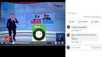 [Cek Fakta] Redaksi Liputan 6 SCTV Tidak Pernah Revisi Quick Count