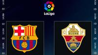 La Liga - Barcelona Vs Elche (Bola.com/Adreanus Titus)