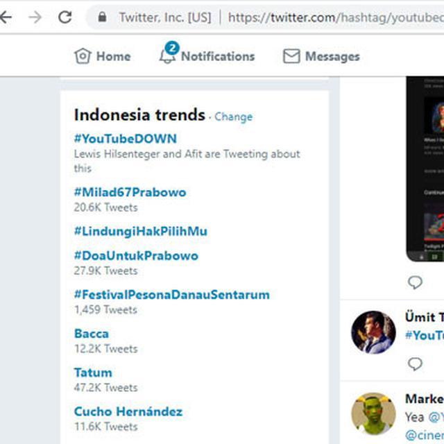 YouTube Down Jadi Trending Topic di Twitter - Tekno Liputan6 com