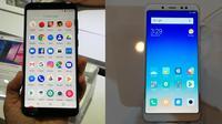 Tampilan smartphone terbaru Asus ZenFone Max Pro M1 dan Xiaomi Redmi Note 5 (Liputan6.com/ Agustin Setyo W)