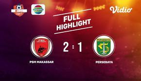 Laga lanjutan Shopee Liga 1, PSM Makassar VS Persebaya Surabaya berakhir  2-1 #shopeeliga1 #PSM Makassar #Persebaya Surabaya