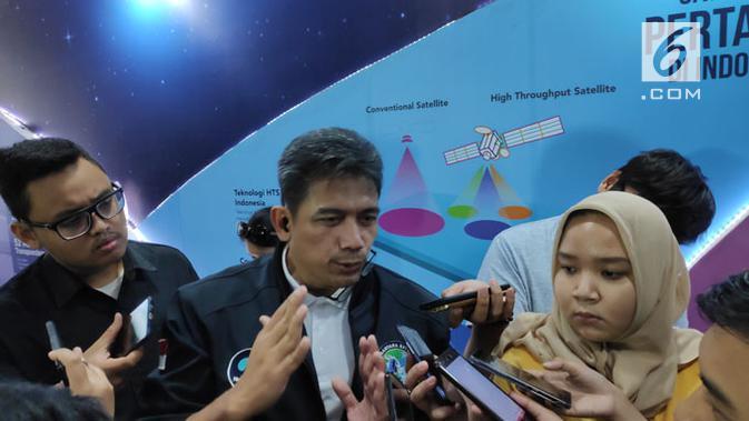 Direktur Jaringan PSN, Heru Dwikartono, jumpa pers peluncuran satelit Nusantara Satu di Jakarta, Jumat (22/2/2019). Liputan6.com/ Agustinus M. Damar