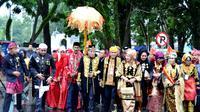 Kehadiran para raja nusantara memberikan penguatan terhadap muasal kerajaan Sriwijaya (Liputan6.com/Yuliardi Hardjo)
