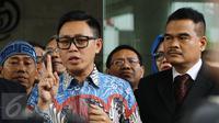 Anggota DPR RI Fraksi PAN, Eko Hendro Purnomo alias Eko Patrio saat keluar dari Bareskrim Polri Gedung KKP, Jakarta, Jumat (16/12).  (Liputan6.com/Herman Zakharia)