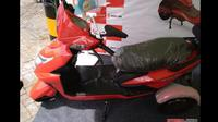 Motor listrik roda 3, Selis, buatan Tangerang dipasarkan dengan harga Rp 19 juta. (Nazarudin Ray/Otosia.com)