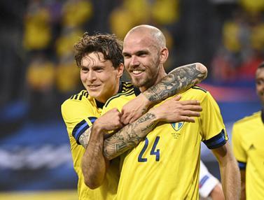 FOTO: Swedia Bantai Armenia pada Laga Persahabatan Jelang Euro 2020