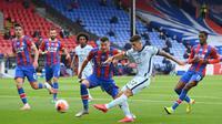 Christian Pulisic mencetak gol pada laga melawan Crystal Palace. (Dok. Twitter/Chelsea)