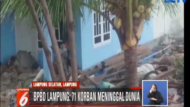 Sementara korban luka tercatat 284 orang, termasuk 11 orang peneliti Undip yang terkena dampak tsunami saat di Pulau Legundi, Pesawaran.