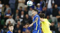 Laga Piala Super Eropa yang berlangsung di Windsor Park itu mempertemukan jawara Liga Champions, Chelsea dengan kampiun Liga Europa, Villarreal. (Foto: AP/Peter Morrison)