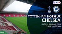 Jadwal Piala Liga Inggris, Tottenham Hotspur vs Chelsea. (Bola.com/Dody Iryawan)