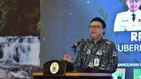 Menteri Tjahjo Kumolo membuka Rakor Gubernur se-Sumatera di Jambi. (Liputan6.com/B Santoso)