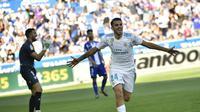 Gelandang Real Madrid, Dani Ceballos. (AP/Alvaro Barrientos)