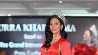 Aurra Kharisma akan mengenakan busana bertema sate ayam di ajang Miss Grand International 2020 (Foto: Ivan Gunawan)