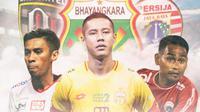 Liga 1 - Fadil Sausu, Indra Kahfi, Ramdani Lestaluhu (Bola.com/Adreanus Titus)