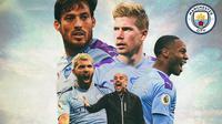 Manchester City - Pep Guardiola dan Pemain Manchester City (Bola.com/Adreanus Titus)