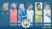 Kolase - Manchester City - Loris Karius, Daniel Sturridge, Adrien Rabiot, Kieran Trippier, Jadon Sancho, Joey Barton (Bola.com/Adreanus Titus)