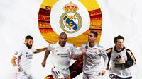 Real Madrid - Karim Benzema, Ronaldo Nazario, Cristiano Ronaldo, Davor Suker (Bola.com/Adreanus Titus)