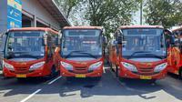 Bus Transjateng koridor Solo-Sangiran-Sumberlawang mulai beroperasi hari ini, Kamis (1/9).(Liputan6.com/Fajar Abrori)